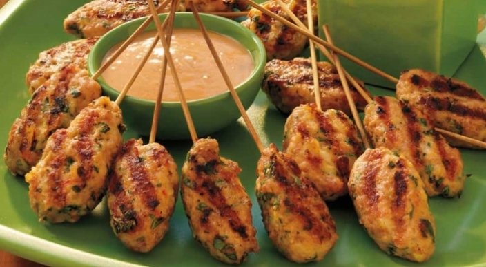 Image of Vietnamese Shrimp Pops with Peanut Sauce