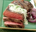 Image of Marinated Strip Steaks with Gorgonzola Sauce