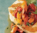 Image of Sea Bass with Roasted Pepper Vinaigrette