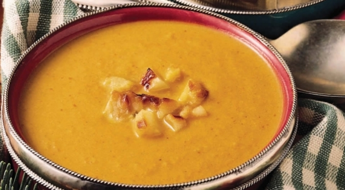 Image of Grill-Roasted Apple and Pumpkin Bisque