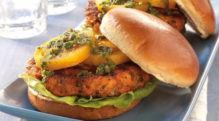 Salmon burgers with citrus herb sauce weber ccuart Gallery