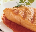 Image of Grilled Salmon and Smoky Tomato-Chipotle Sauce