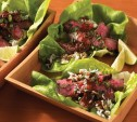 Image of Ginger and Soy-Marinated Skirt Steak Lettuce Wraps