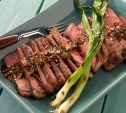 Image of Korean Rib Eye Steaks with Toasted Sesame Salt