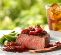 Image of Filet Mignon Steaks with Port, Cherries, and Thyme