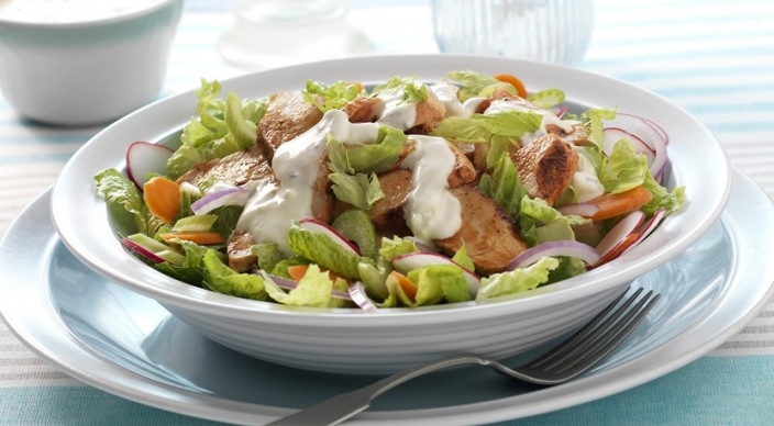 Buffalo Chicken Salad with Blue Cheese Dressing Recipe by Jamie ...