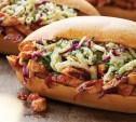 Image of Barbecued Chicken Hoagies with Zesty Mustard-Broccoli Slaw