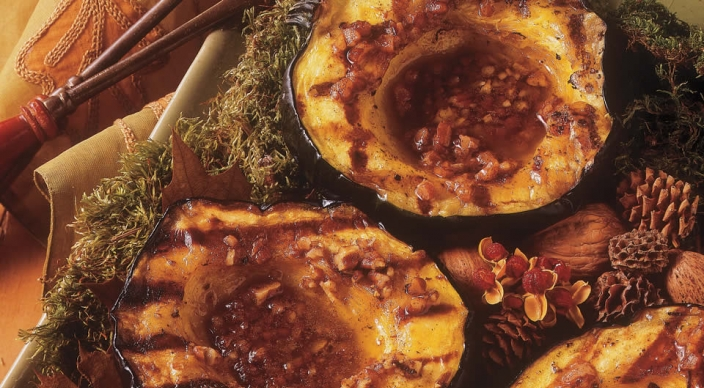 Image of Acorn Squash with Spiced Pecan Butter