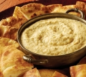 Image of Ember-Roasted Onion and Garlic Dip with Crispy Pita