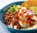 Image of Mexican Chicken Bowl with Rice, Beans, and Queso Fresco