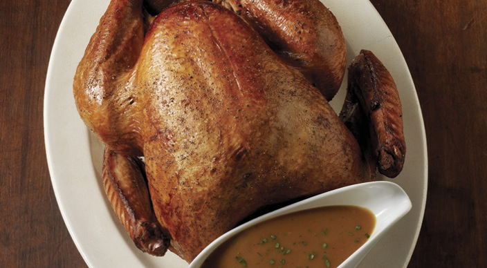 Image of Brined and Barbecued Turkey with Pan Gravy
